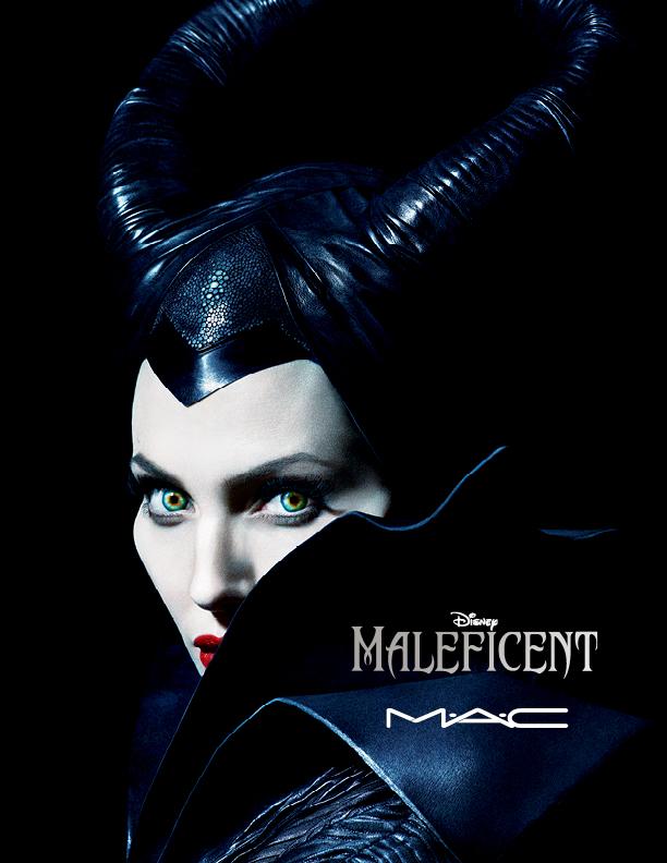 Angelina Jolie en Maléfique pour M.A.C.