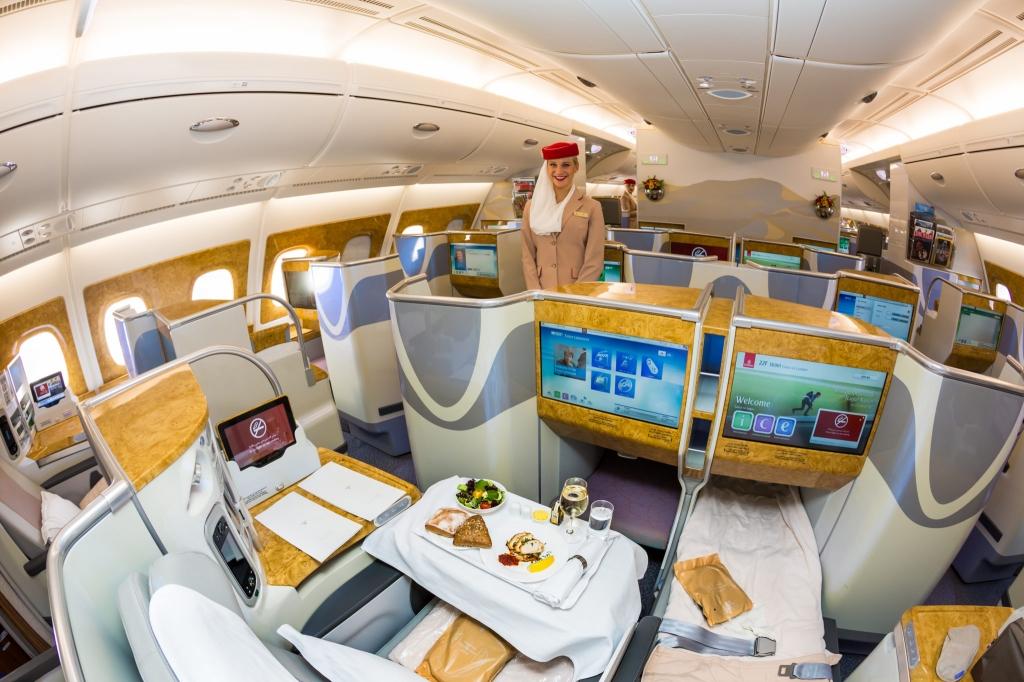 Emirates interieur avion